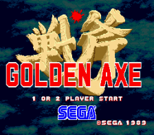 Golden Axe title screenshot