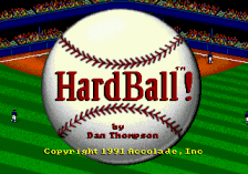 HardBall! title screenshot
