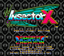 Insector X title screenshot
