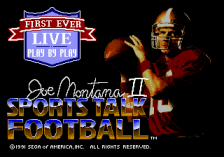Joe Montana II Sports Talk Football title screenshot