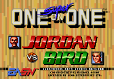 Jordan vs Bird title screenshot