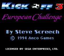 Kick Off 3 - European Challenge title screenshot