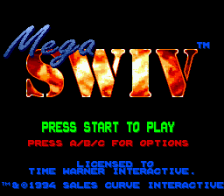 Mega SWIV title screenshot