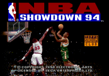 NBA Showdown '94 title screenshot