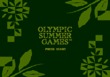 Olympic Summer Games title screenshot