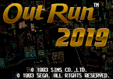 OutRun 2019 title screenshot