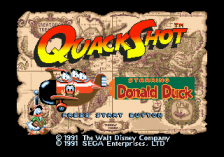 QuackShot Starring Donald Duck title screenshot
