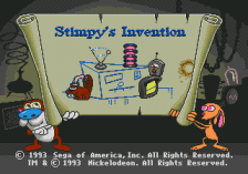 Ren & Stimpy Show Presents Stimpy's Invention, The title screenshot