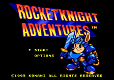 Rocket Knight Adventures title screenshot