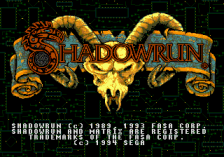 Shadowrun title screenshot