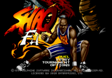 Shaq-Fu title screenshot