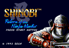 Shinobi III - Return of the Ninja Master title screenshot