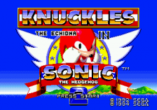 Sonic & Knuckles + Sonic The Hedgehog 2 title screenshot