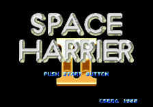 Space Harrier II title screenshot