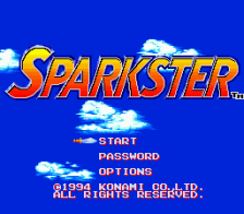 Sparkster title screenshot