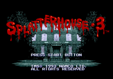 Splatterhouse 3 title screenshot