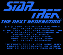 Star Trek - The Next Generation - Echoes from the Past title screenshot