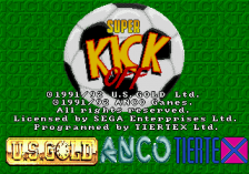 Super Kick Off title screenshot