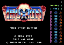 Truxton title screenshot