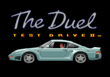 Test Drive II - The Duel title screenshot
