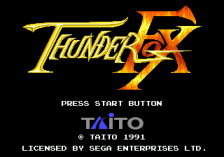 Thunder Fox title screenshot
