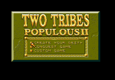Populous II - Two Tribes title screenshot