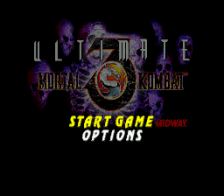 Ultimate Mortal Kombat 3 title screenshot