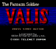 Valis title screenshot