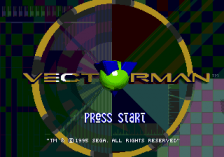 Vectorman title screenshot