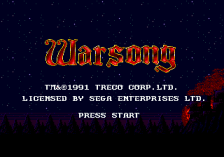 Warsong title screenshot