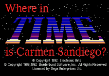 Where in Time Is Carmen Sandiego ? title screenshot