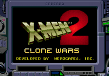 X-Men 2 - Clone Wars title screenshot