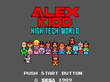 Alex Kidd - High-Tech World title screenshot