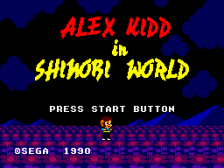 Alex Kidd in Shinobi World title screenshot