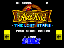Alex Kidd - The Lost Stars title screenshot