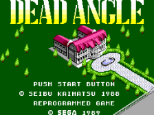Dead Angle title screenshot