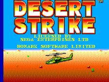 Desert Strike title screenshot