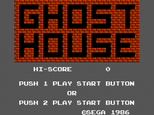 Ghost House title screenshot