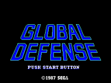 Global Defense title screenshot