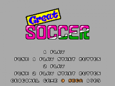 Great Soccer title screenshot