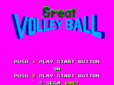 Great Volleyball title screenshot