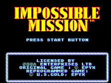 Impossible Mission title screenshot