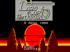 Lord of the Sword title screenshot