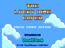 Lucky Dime Caper Starring Donald Duck, The title screenshot