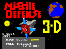 Missile Defense 3-D title screenshot