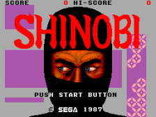 Shinobi title screenshot