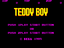 Teddy Boy title screenshot