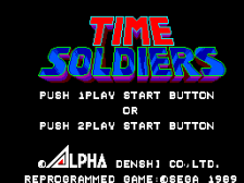 Time Soldiers title screenshot