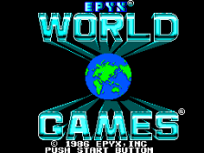 World Games title screenshot