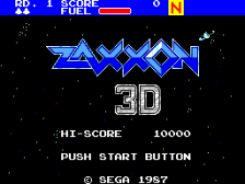 Zaxxon 3-D title screenshot